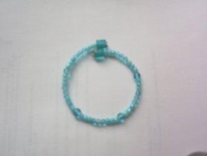 2 tone Turquoise spring bracelet