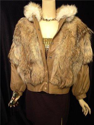 Vintage Coyote & Leather Jacket/Vest
