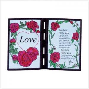 #25500 Poetic Love Plaque