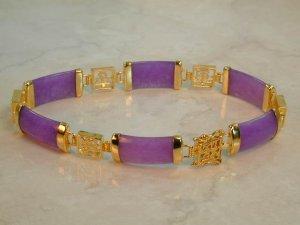Fine Burmese Jade 6 link bracelet