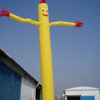 Yellow Air dancer (single leg) with vortex air blower