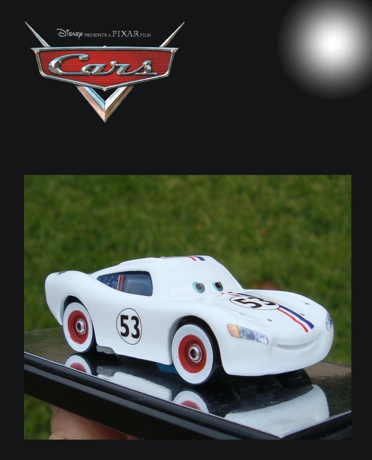 Custom HERBIE CRUISIN' McQUEEN Disney Pixar Cars