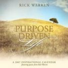 PURPOSE DRIVEN LIFE 2007 WALL CALENDAR