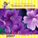 SPLASHES OF JOY 2007 WALL CALENDAR