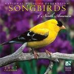 SONGBIRDS OF NORTH AMERICA 2007 WALL CALENDAR
