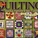 QUILTING PATTERN A DAY 2007 DESK CALENDAR-FREE SHIPPING!