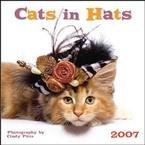 CATS IN HATS 2007 WALL CALENDAR