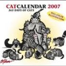 B.KLIBAN 2007 CAT DESK CALENDAR