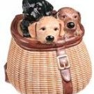 3 LABS IN A CREEL COOKIE JAR