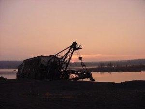 Upper Michigan Mining Dredge