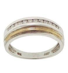 1/4 Carat Diamond 14K Two-Tone Gold Ring