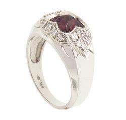 Pink Tourmaline Diamond 14K White Gold Ring