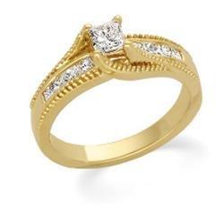 14K WHITE Gold Diamond Bridal Engagement Ring