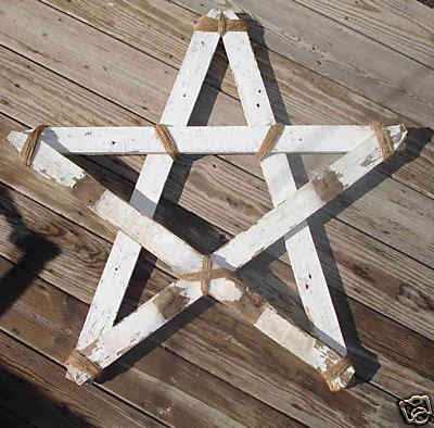 OOAK Old Large Primative Wood Barn STAR