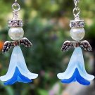 Swarovski Crystal & Acrylic Flower Angel Earrings