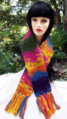 Handmade Crochet Scarf Varigated Colors