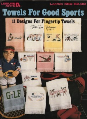 Leisure Arts Leaflet, Towels for Good Sports