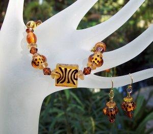 Animal Attraction-Bracelet & Earring Set
