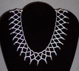 Crystal Collar Necklace, Handmade