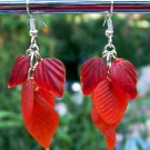 Red Leaves Earrings-Handmade
