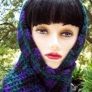 Purple & Green Handmade Crochet Scarf