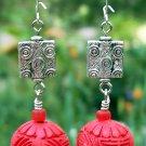 Red Cinnabar Earrings