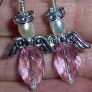 Crystal Angel Earrings-Handmade