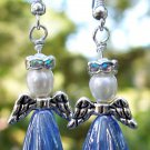Crystal Angel Earrings-Handmade