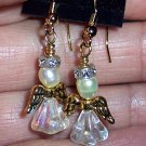 Christmas Angel Earrings-Handmade