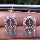Swarovski Crystal Aquamarine Earrings