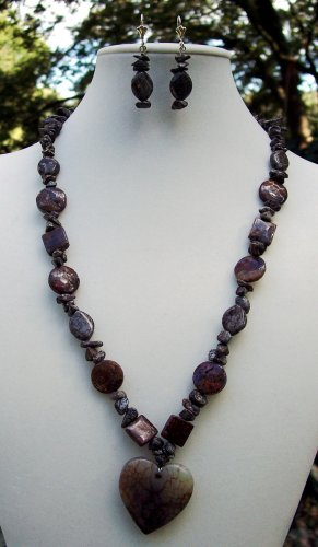 Heart of Stone Necklace-Handmade