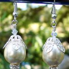 Swarovski Crystal & Pearl Earrings Handmade
