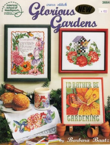 Glorious Gardens Cross Stitch Pattern Book