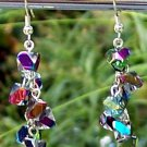 Fire Polished Crystal Dangle Earrings