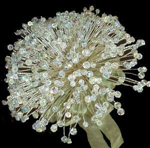 300 Swarovski Crystal Bouquet and Boutonniere