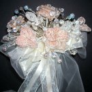 Wedding Bouquet with 150 Swarovski Crystal and Beaded Flowers