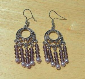 Purple Heart Earrings