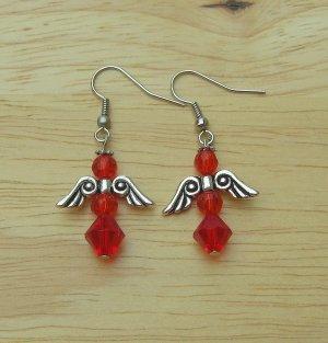 Ruby Angel Earrings