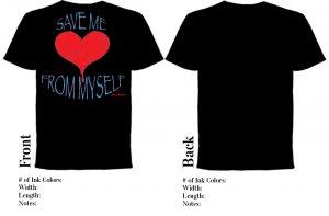'Save Me From Myself' Black Tee
