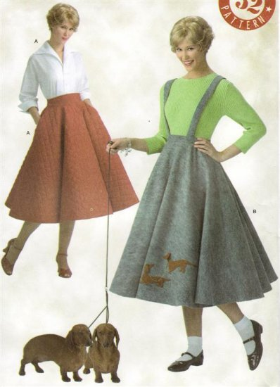 SIMPLICITY Retro Vintage 50's Poodle Circle Skirt SEWING PATTERN