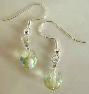 Green AB Crystal Silver Earrings brbb120