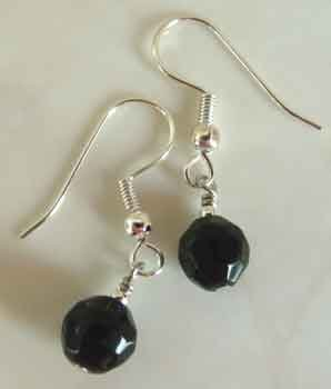 Jet Black Crystal SS Earrings brbb133