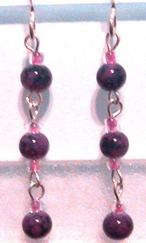 Dangling PURPLE Pierced Earrings