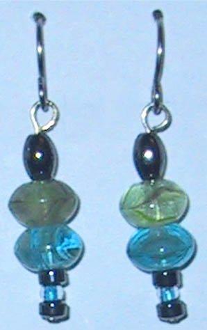 Hematite Pierced Earrings