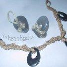 FUNKY Spiral Hemp-Hematite Bracelet