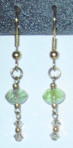 Green Beauty Clip-On Earrings