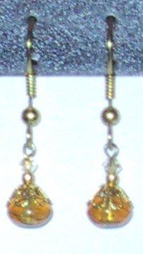 Amber Clip-On Earrings