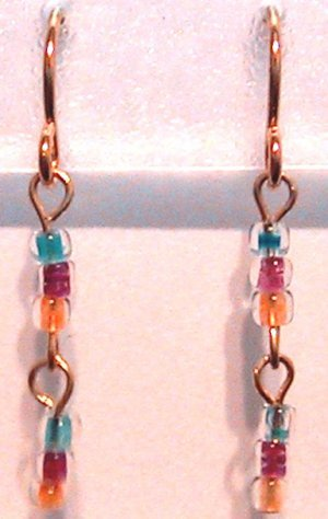 Multi Colored Clip-On Earrings