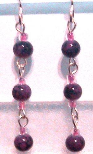 Dangling PURPLE Clip-On Earrings