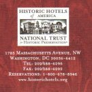 Historic Hotels of America 2004 Directory National Trust for Historic Preservation